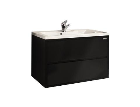 Мебель для ванной Акватон Римини 80 черная глянцевая