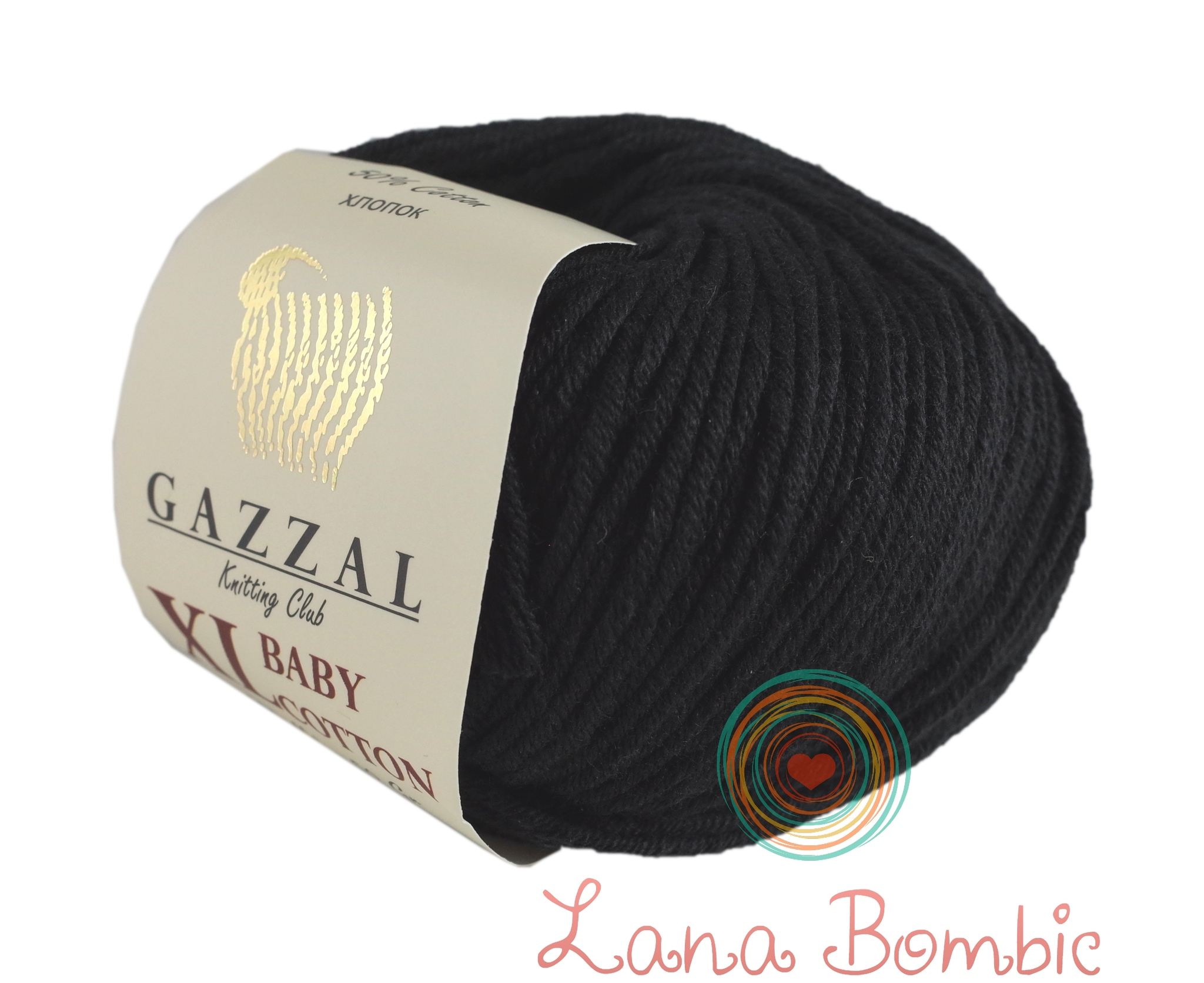 Пряжа Gazzal Baby Cotton XL 3433 черный