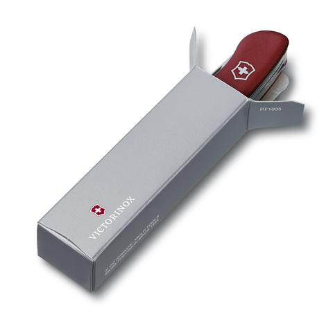 Нож Victorinox Equestrian, 111 мм, 12 функций, с фиксатором лезвия, красный