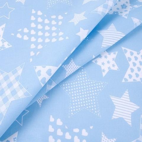 Бязь плательная 150 см 1683/3 цвет голубой