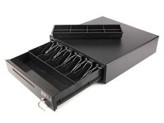 Денежный ящик МИДЛ 2.0/К большой 5 отсеков, серый с эл. приводом для Штрих