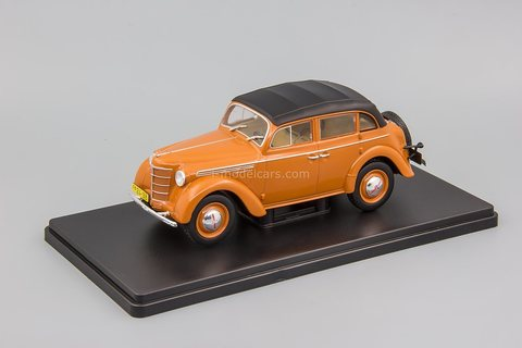 Moskvich-400-420A with awning brown 1:24 Legendary Soviet cars Hachette #72