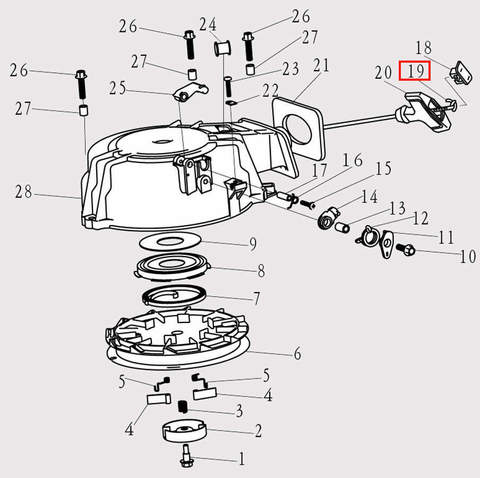 Шнур стартера 4x1.8 для лодочного мотора F9.8 Sea-PRO (8-19)