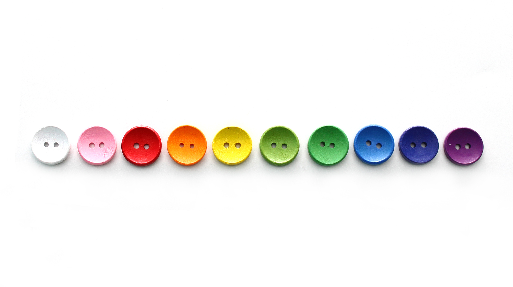 Пуговица разноцветная, 14 мм