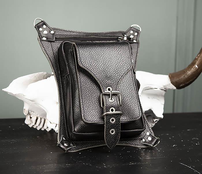 BAG369-1 Мужская набедренная сумка ручной работы из натуральной кожи