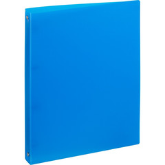 Папка на 4-х кольцах Attache 32 мм синяя до 170 листов (пластик 0.45 мм)