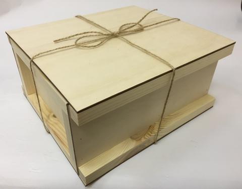 057-9298 Короб-шкатулка с крышкой (23,5*21*11см.)