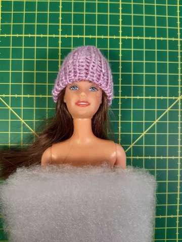 Шапка для кукол 29 см.(ДИСКОНТ) - На кукле. Одежда для кукол, пупсов и мягких игрушек.