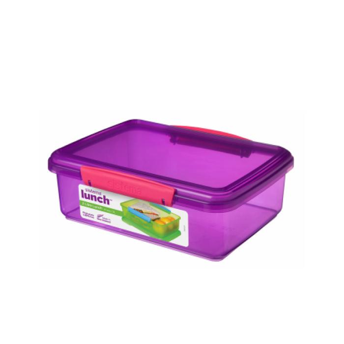 """Контейнер пищевой Sistema """"Lunch"""" 2 л, цвет Фиолетовый"""