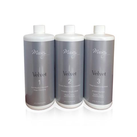 Maciez Velvet набор для кератинового выпрямления 3*1000мл