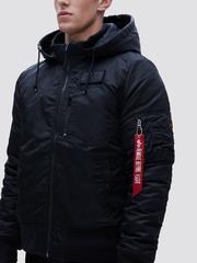 Куртка Alpha Industries MA-1 Hooded Rib Black (Черный)