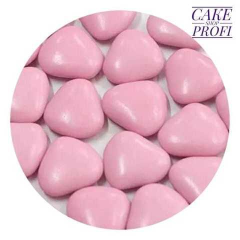 Посыпка Сердца с шоколадным центром розовые, 25г