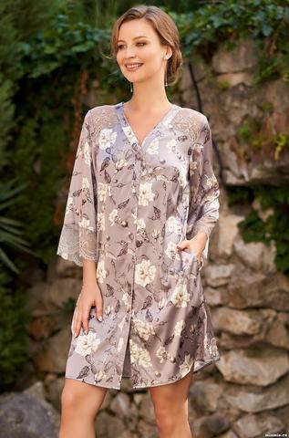 Рубашка Mia Amore с принтом Gracia (70% натуральный шелк)