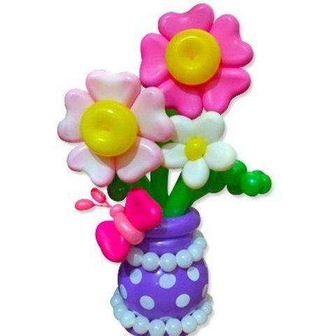 цветы из шариков , цветы из шаров