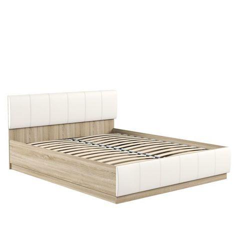 Кровать двойная Линда 303 Моби 160х200 дуб сонома/белый