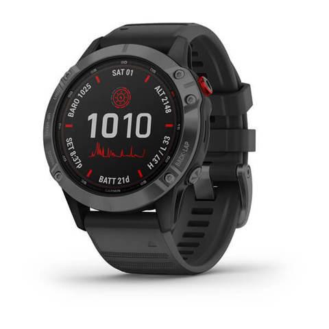 Купить Мультиспортивные часы Garmin Fenix 6 Pro Solar- серые с черным ремешком 010-02410-15 по доступной цене