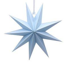 Звезда 45 см девятиконечная Голубой, 1 шт.