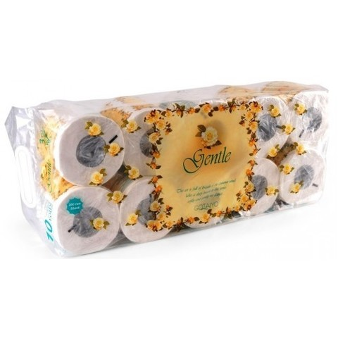 Gotaiyo Gentle Туалетная бумага трехслойная с ароматом Европы в индивидуальной упаковке 10 рулонов
