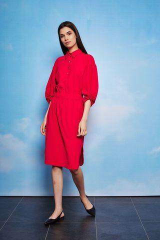 Marc Cain  Платье трикотажное с акцентными рукавами