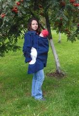 Туника для слингоношения MaM Tunic Polar Fleece, разм.  S/M,  'Чёрный Ирис/Серый Ледник'