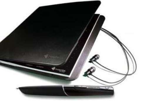 Livescribe 8GB Echo Pro Pack - набор из цифровой ручки, гарнитуры, блокнота и папки
