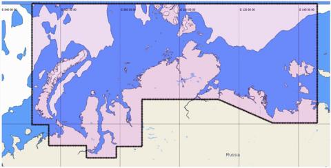 КАРТА ГЛУБИН C-MAP MAX-N RS-N203 Северное побережье России: от Новой Земли до пр. Лаптева, о. Котельный