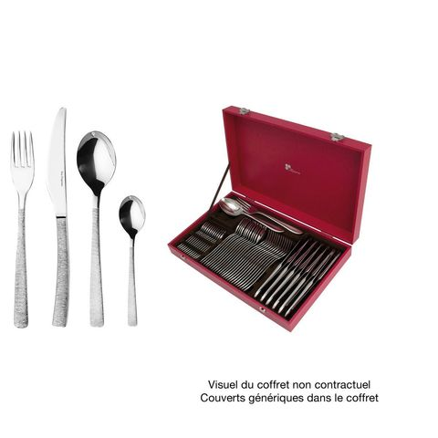Набор столовых приборов  на 12 персон, 50 предмета, нержавеющая сталь , серебристый, артикул 193342, серия Astree Cisele