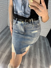 джинсовая юбка удлиненная nadya