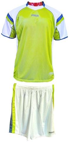 Форма футбольная Joma Sevilla Gold зеленая футболка, белые шорты