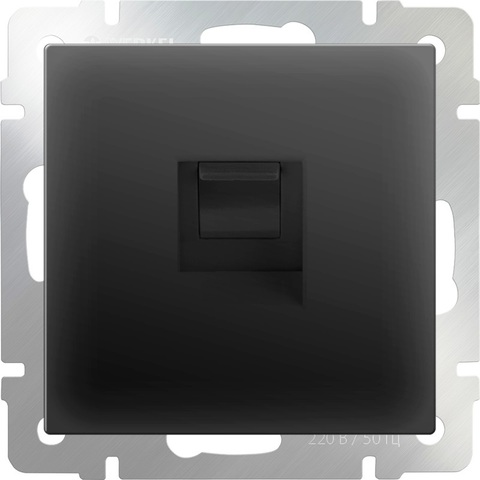 Werkel Розетка W1181008 (WL08-RJ-45) черный матовый (комп)