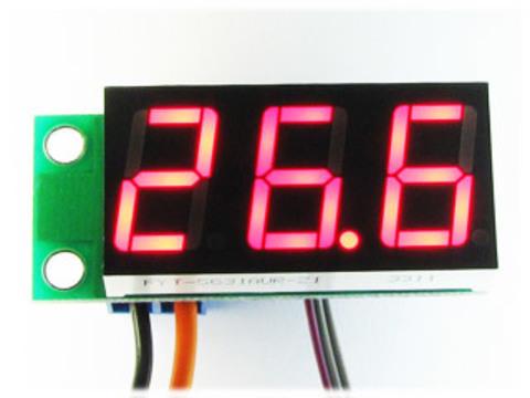 Встраиваемый цифровой термометр с выносным датчиком, ультра-яркий красный индикатор
