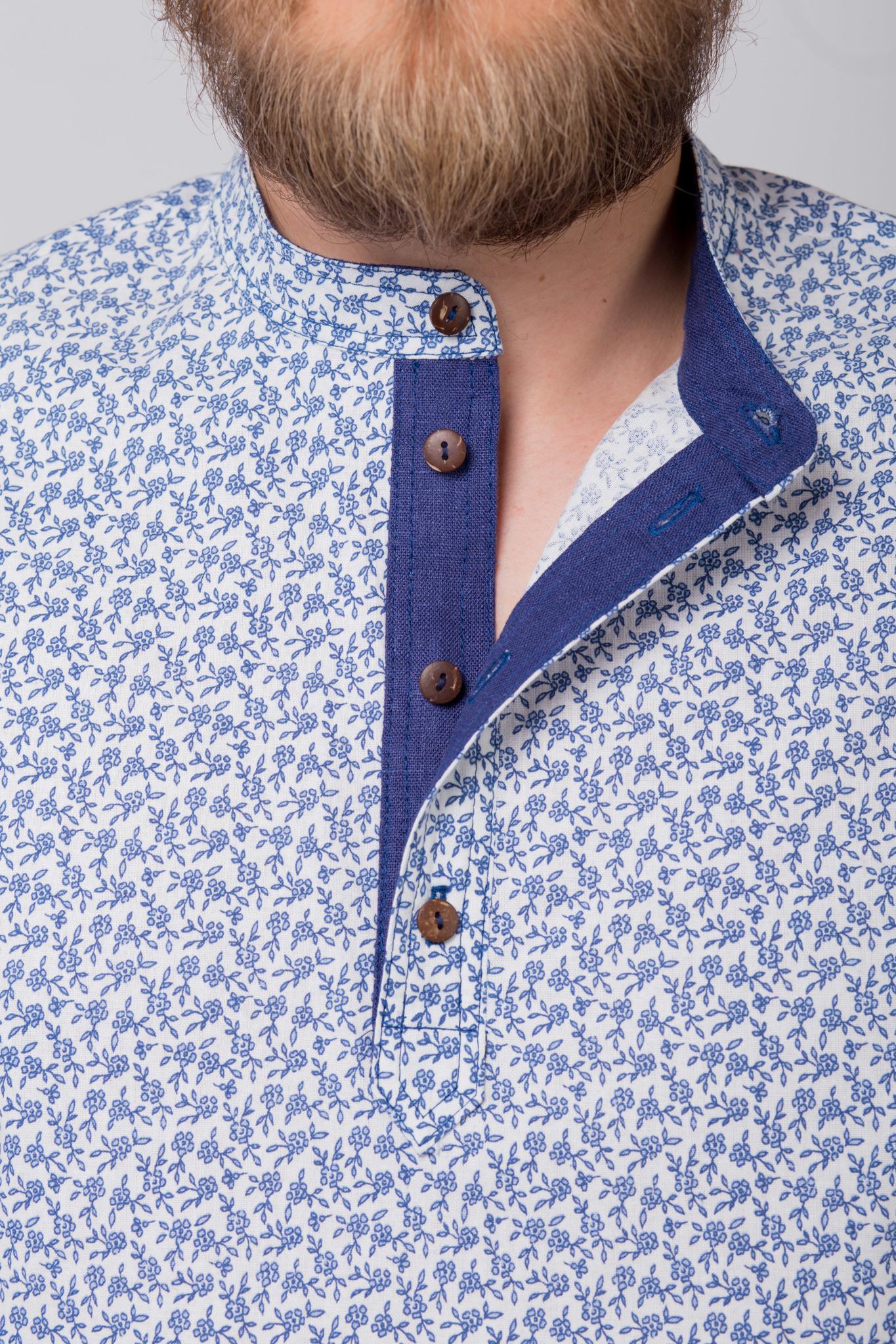 Рубашка льняная Енисейская приближенный фрагмент