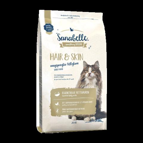 Bosch Sanabelle Hair & Skin Сухой корм для выставочных и привередливых кошек с домашней птицей