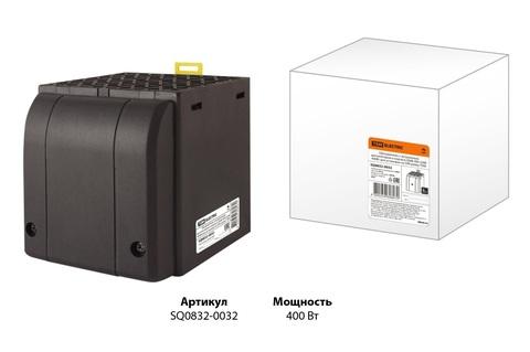 Обогреватель с встроенным вентилятором в корпусе ОШВ-400 230В 400Вт для установки на DIN-рейку TDM