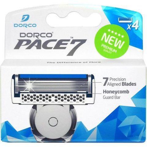 Сменные лезвия для бритвенного станка Dorco PACE 7 4 шт