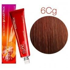 Matrix Color Sync: Copper Gold 6CG темный блондин медно-золотистый, крем-краска без аммиака, 90мл