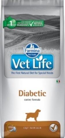 Сухой корм Farmina VET LIFE Canine Diabetic диета для собак 12 кг