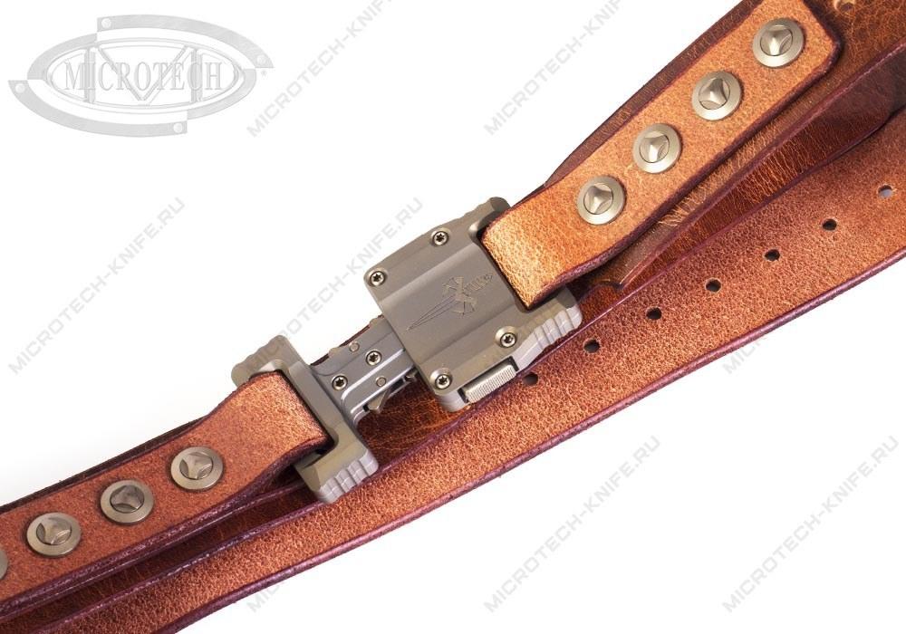 Ремень Marfione APIS Distressed Brown Buffalo Titanium Bronzed - фотография