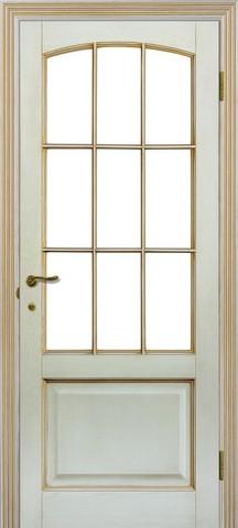 Дверь Халес Верона (слоновая кость, остекленная, массив хвойных пород)