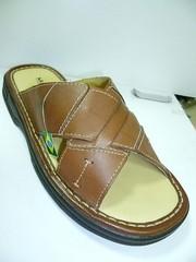 Шлепанцы сандалии мужские кожаные. Коричневые босоножки шлепанцы на лето Mariner Brown Leather.