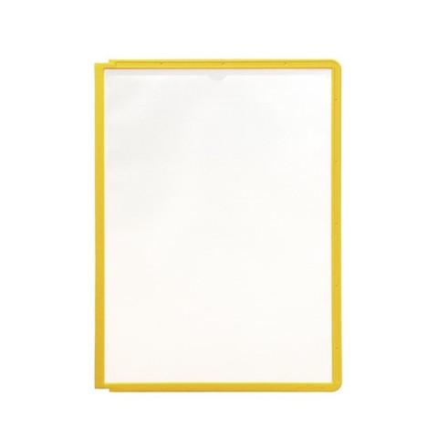 Панель для демосистемы Durable Sherpa А4 желтая (5 штук в упаковке)