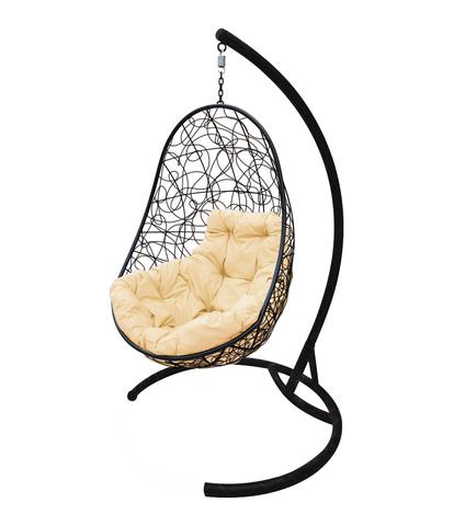 Кресло подвесное Parma black/beige
