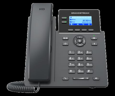 Grandstream GRP2602P - IP телефон (PoE, блок питания не входит в комплект). 4 SIP аккаунта, 2 линии, есть подсветка экрана