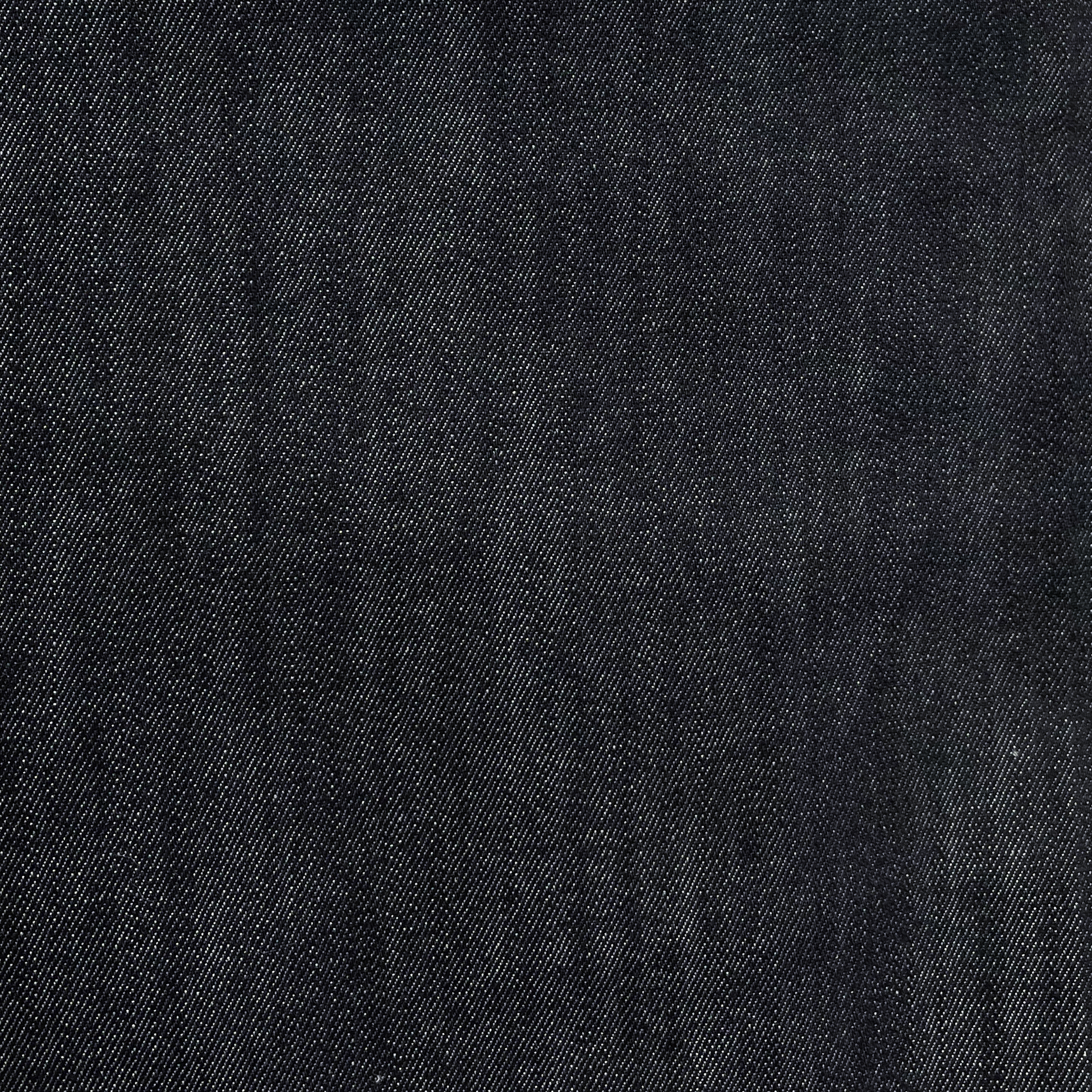 Хлопковый джинс с эластаном чернильный индиго