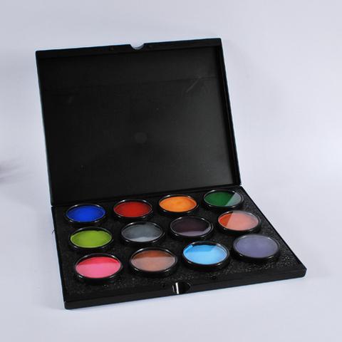 MEHRON Кейс-палитра и 12 шт аквагрима Paradise Makeup AQ по 40г (Палитра B)