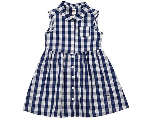 Летнее платье без рукава в клетку Mini-Maxi (арт.UD3305(1))