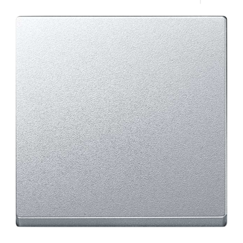 Выключатель одноклавишный промежуточный. Цвет Алюминий. Merten. MTN3117-0000+MTN412160