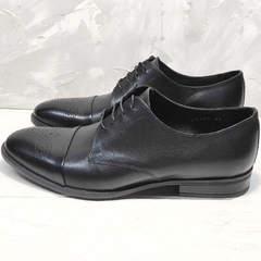 Черные туфли мужские классика Ikoc 2249-1 Black Leather.