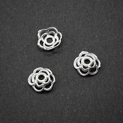 Шапочка Кружево 6,5 мм серебро 925 1 шт