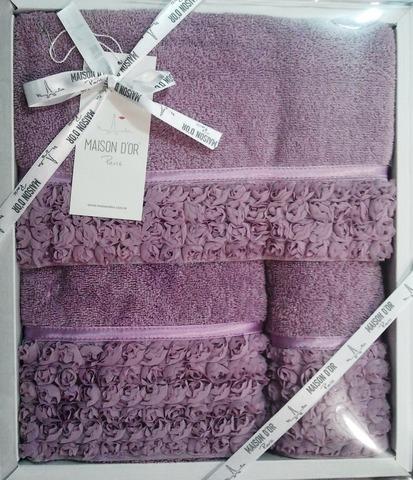 Набор полотенец ROSA РОСА 3пр 30х50 50х100 и 70х140 Maison Dor Турция